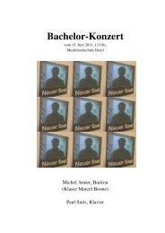 Bachelor-Programm manner - Musik-Akademie Basel