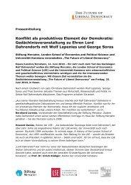 Presseinfo Juni 10: The Future of Liberal ... - Stiftung Mercator