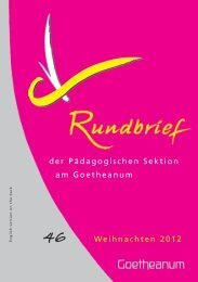 Goetheanum - Pädagogische Sektion