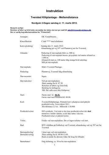 Instruktion (PDF) - Nordjysk 2-dages