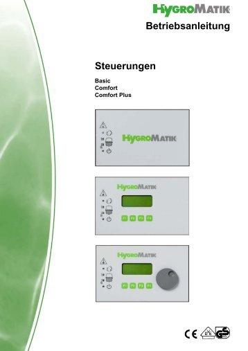 Steuerungen Betriebsanleitung - HygroMatik