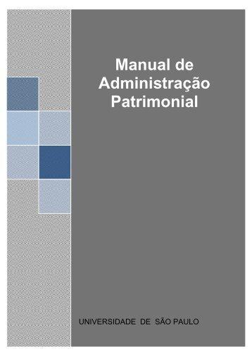Novo Manual de Administração Patrimonial - USP