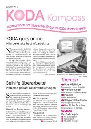 Themen KODA goes online Beihilfe überarbeitet