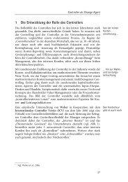 1 Die Entwicklung der Rolle des Controllers - Buchhandel.de