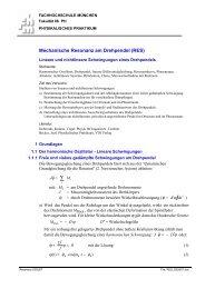 Mechanische Resonanz am Drehpendel (RES)