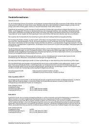 Fondsinformationen - S-pension.de