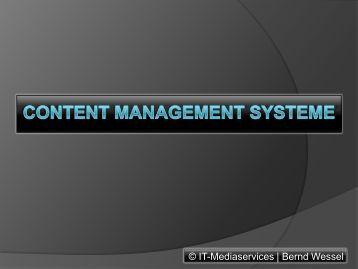 Content Management Systeme - CMS-Blogger