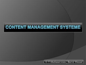Content Management Systeme - CMS-Blogger