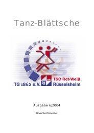 Ausgabe 6/2004 - TSC Rot-Weiß Rüsselsheim