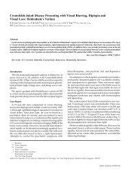 Creutzfeldt-Jakob Disease Presenting with Visual Blurring, Diplopia ...
