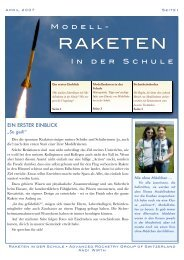 Raketen in der Schule - ARGOS - Advanced Rocketry Group of ...