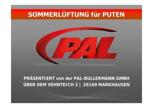SOMMERLÜFTUNG für PUTEN - PAL-Bullermann