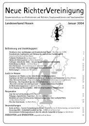 HES-2004-01 Info - Neue Richtervereinigung eV