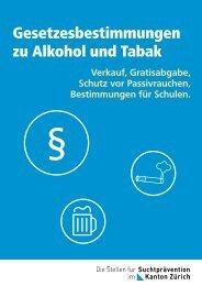 Gesetzesbestimmungen zu Alkohol und Tabak - Suchtpraevention