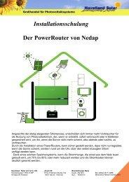 Installationsschulung Der PowerRouter von Nedap - Havelland Solar