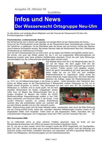 Infos und News - Wasserwacht Ortsgruppe Neu-Ulm