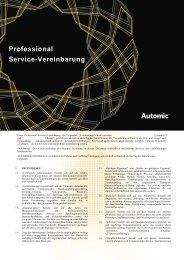 Professional Service-Vereinbarung - Automic