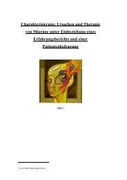Charakterisierung, Ursachen und Therapie von Migräne unter ...