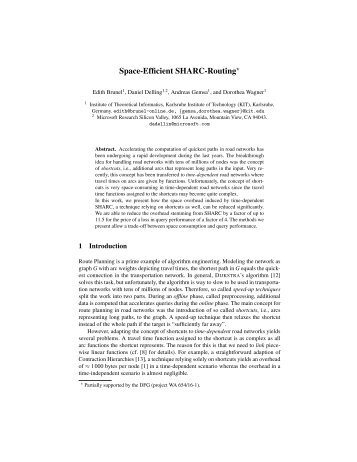 Space-Efficient SHARC-Routing