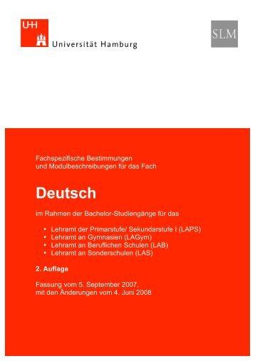 Deutsch - Universität Hamburg