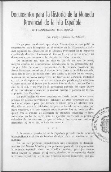 Documentos para la Historia de la Moneda Provincial de la ... - BAGN