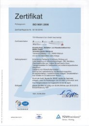 ISO 9001 :2008 - BBA Müller Gmbh