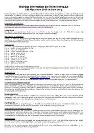 Wichtige Information der Rennleitung zur DM Marathon 2008 in ...