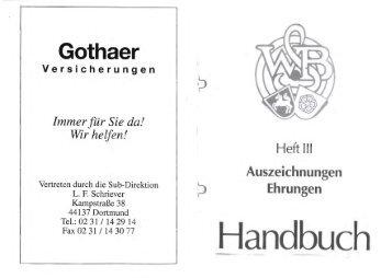 Auszeichnungsrichtlinien Westfälischer Schützenbund
