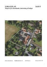 Lokalplan nr. 14.03 F for Mejerivej 8, Karlslunde, indretning af boliger