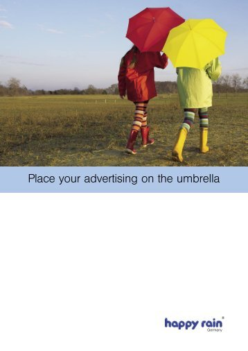 Place your advertising on the umbrella - Happy-Rain