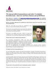 Interview von MyMonk.de - Seminare Gewaltfreie Kommunikation in ...