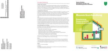 Flyer Bauwerkserkundung - und Weiterbildungszentrum St. Gallen
