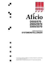 Systemeinstellungen - Nashuatec