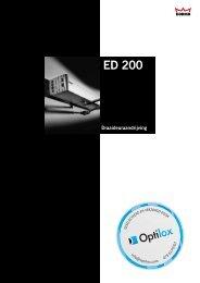 Dorma ED200 technische brochure - Optilox
