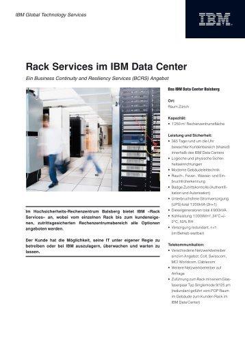 Rack Services im IBM Data Center
