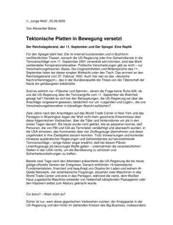 Tektonische Platten in Bewegung versetzt - wahrheit.ch