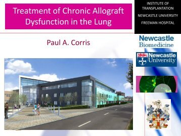Phenotypes of Allograft Dysfunction -What's new ? Paul A. Corris