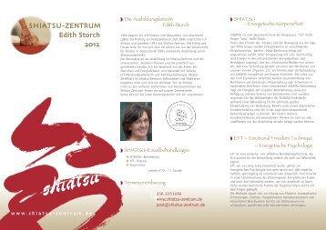 SHIATSU-ZENTRUM Edith Storch 2012 - Shiatsu-Netz