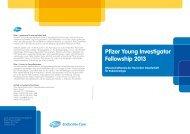 Pfizer Young Investigator Fellowship 2013 - Deutsche Gesellschaft ...