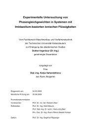 Experimentelle Untersuchung von Phasengleichgewichten in ...