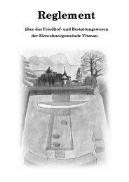 Reglement über das Friedhof- und Bestattungswesen - Vitznau