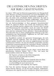 die lateinischen inschriften auf burg gruttenstein - Gutrater Ritterschaft