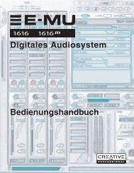 E-MU 1616/1616m CardBus Digitales Audiosystem - Creatives Site