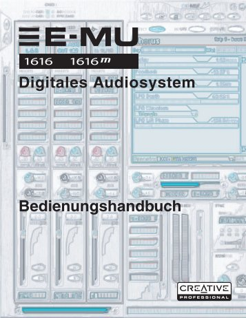 E-MU 1616/1616m CardBus Digitales Audiosystem - Creatives Site