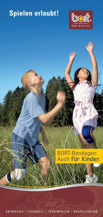 Bandagen für Kinder - Sanitätshaus Burbach + Goetz