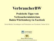 VerbraucherBW - Infodienst - Landwirtschaft, Ernährung, Ländlicher ...