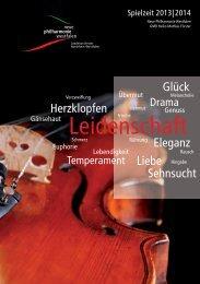 Spielzeitheft 2013/2014 - Neue Philharmonie Westfalen
