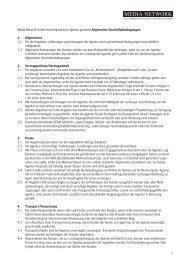 Allgemeine Geschäftsbedingungen - Media Network GmbH