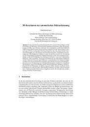 3D-Invarianten zur automatischen Pollenerkennung - Lehrstuhl für ...