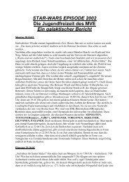 STAR-WARS EPISODE 2002:Die Jugendfreizeit des MVE: Ein ...